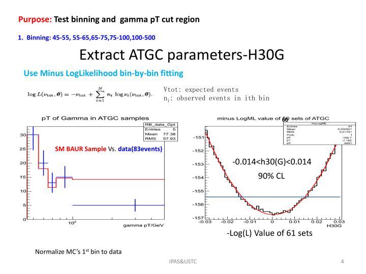 Extract ATGC parameters-H30G