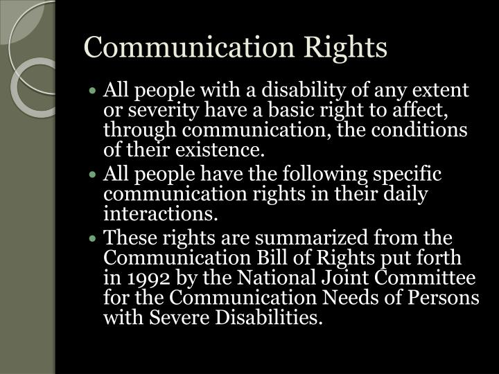 Communication Rights