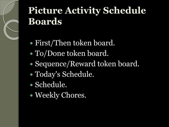 Picture Activity Schedule Boards