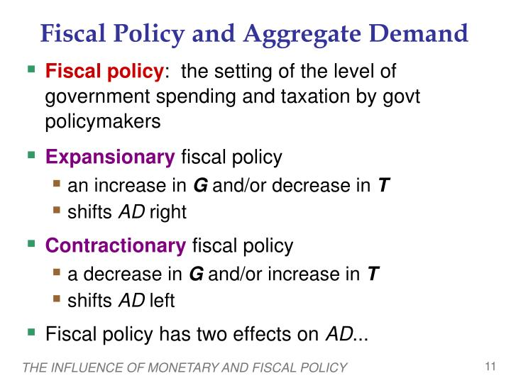 comparison of monetary and fiscal policies The effectiveness of the fiscal or monetary policy depends on the slope of the is and the lm curves according to the classical keynesian view where short-run effect of monetary and fiscal policies does increase in outputs but neither affects output in the long-run investment ratios and net export.