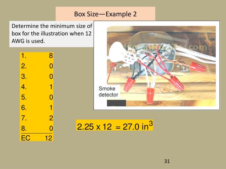 Box Size—Example 2