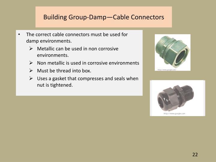 Building Group-Damp—Cable Connectors