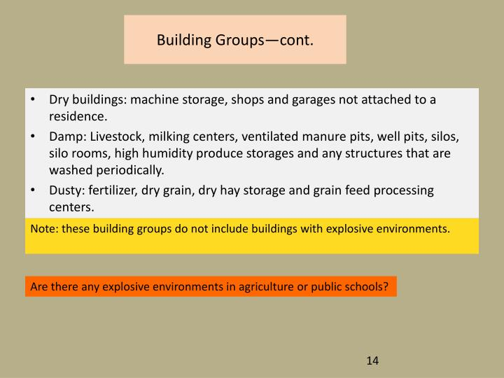 Building Groups—cont.