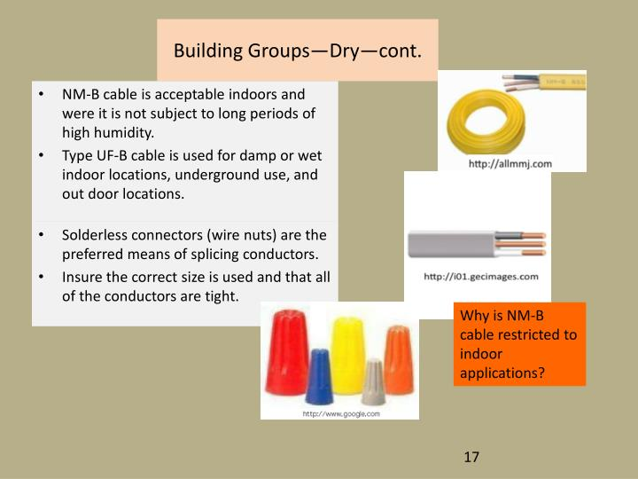 Building Groups—Dry—cont.