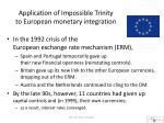 application of impossible trinity to european monetary integration