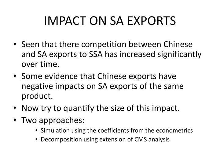 IMPACT ON SA EXPORTS