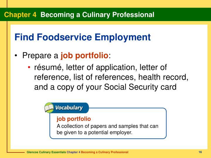 job portfolio
