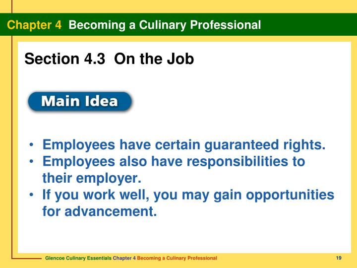 Section 4.3  On the Job