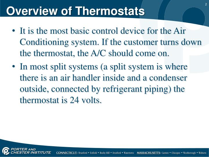 Overview of thermostats