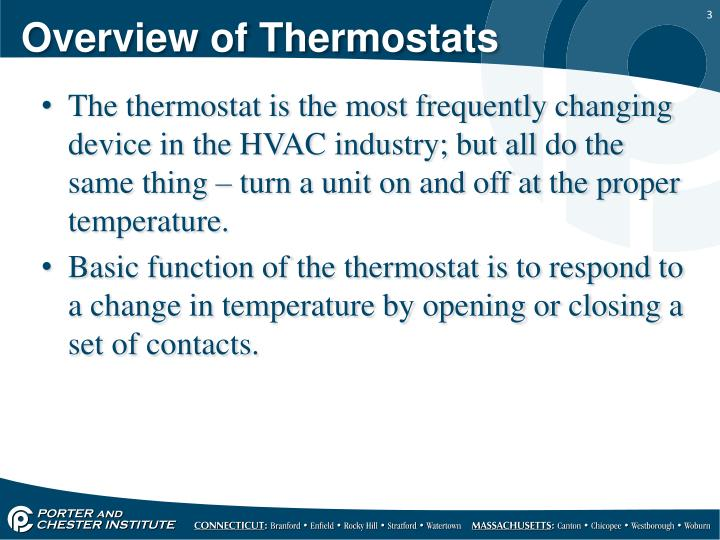 Overview of thermostats1