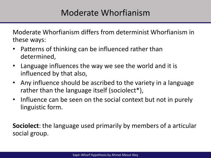 whorfs linguistic determinism hypothesis emphasizes that