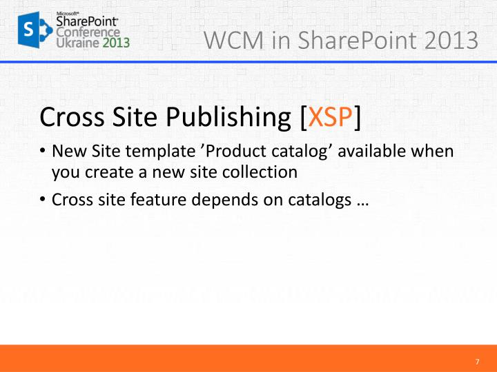sharepoint 2013 product catalog site template - ppt cross site publishing xsp powerpoint presentation
