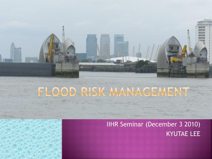 flood risk management n.