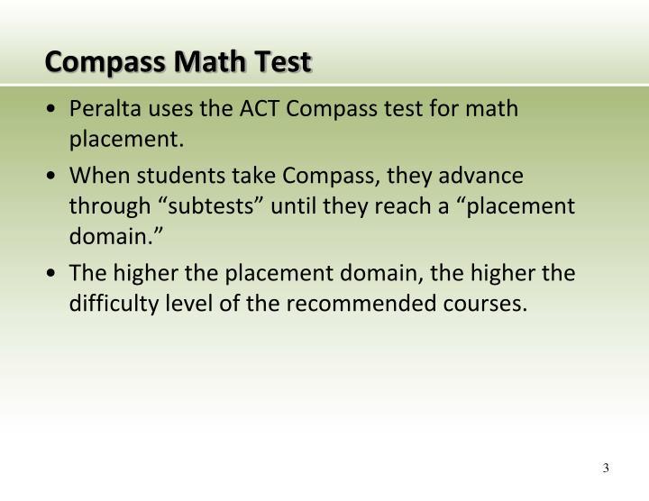 Compass math test1