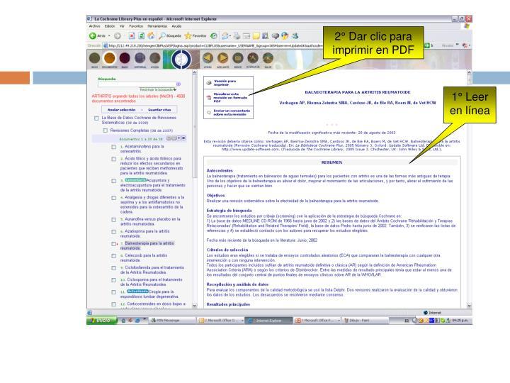2° Dar clic para imprimir en PDF
