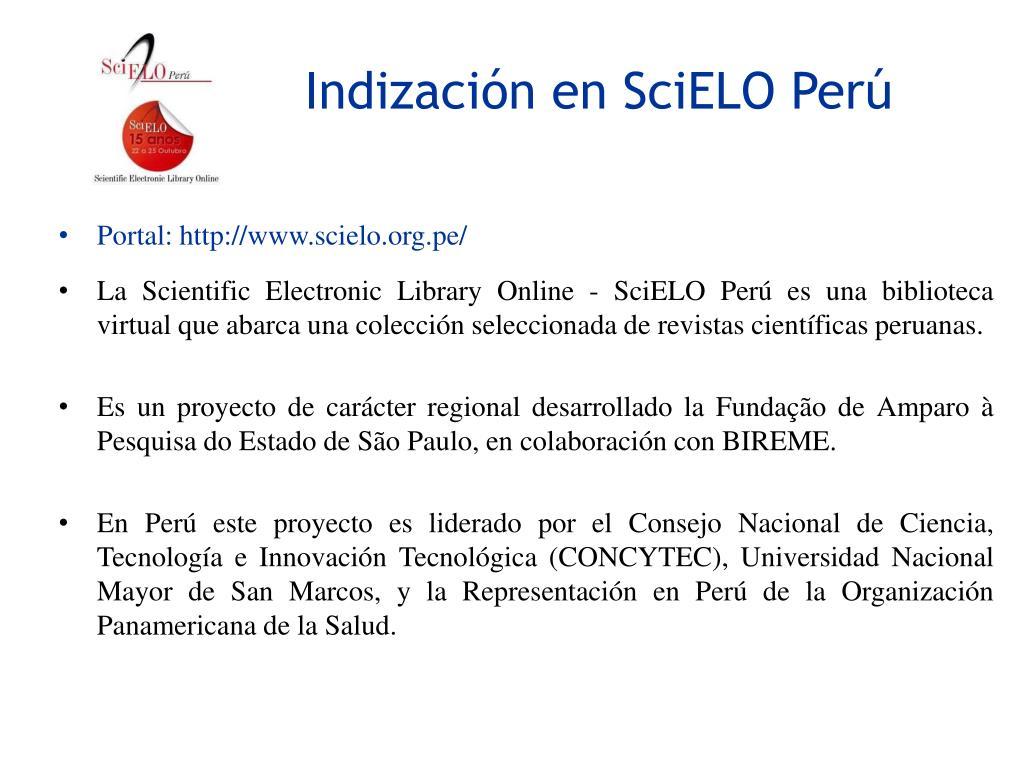Ppt Requisitos Para El Registro En Latindex Y La Indizacion En Scielo Peru Powerpoint Presentation Id 2336313