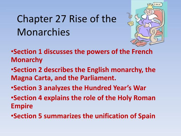 chapter 27 rise of the monarchies n.