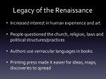 legacy of the renaissance