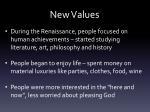 new values