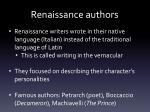 renaissance authors