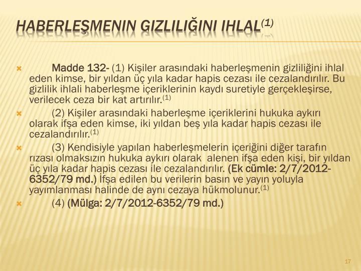 Madde 132-