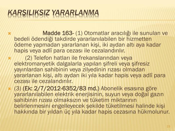 Madde 163-