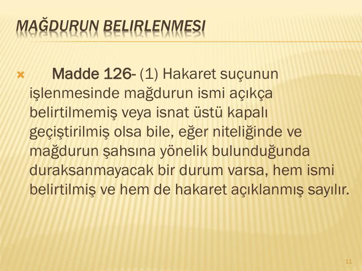 Madde 126-