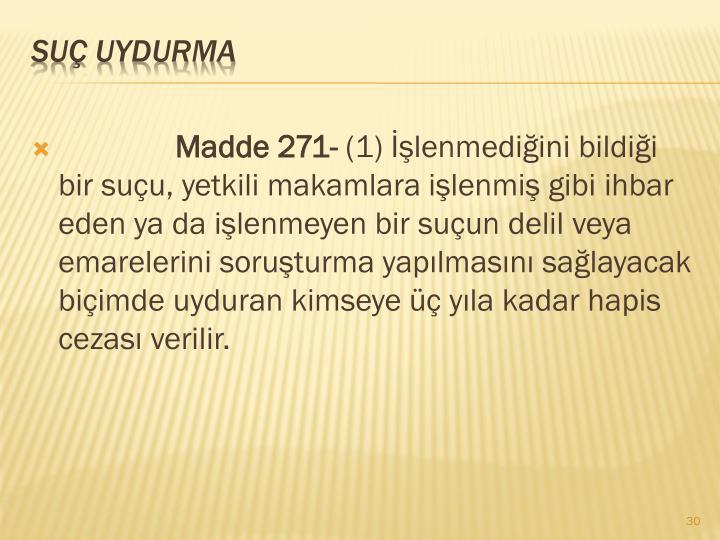 Madde 271-