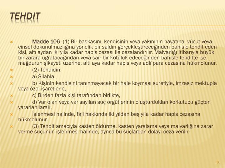 Madde 106-