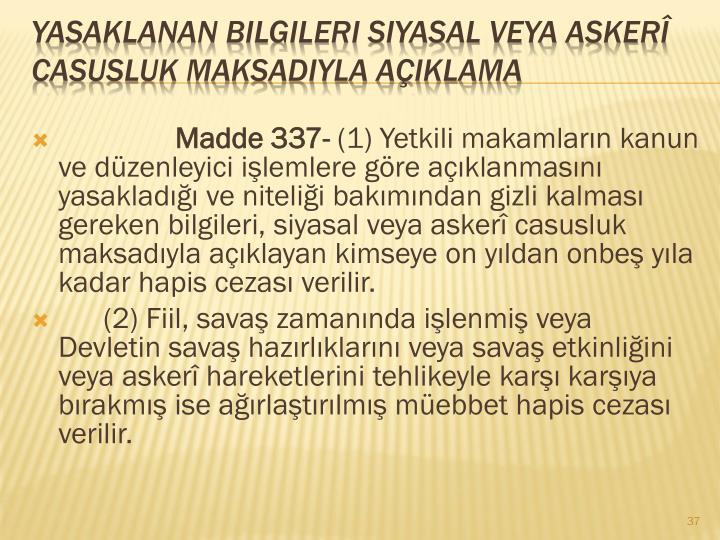 Madde 337-