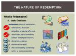 the nature of redemption