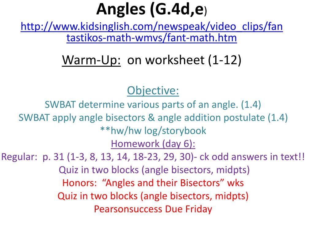 Ppt Angles G 4d E Powerpoint Presentation Id 2336817