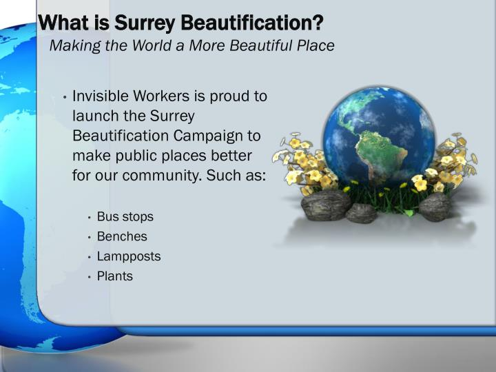 What is surrey beautification