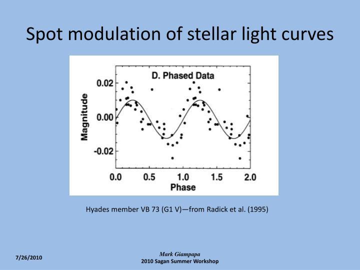 Spot modulation of stellar light curves