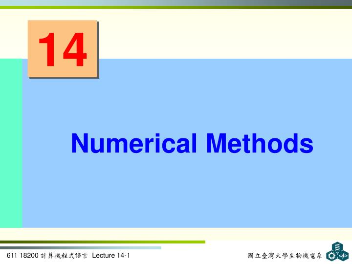 PPT - Numerical Methods PowerPoint Presentation - ID:2336929
