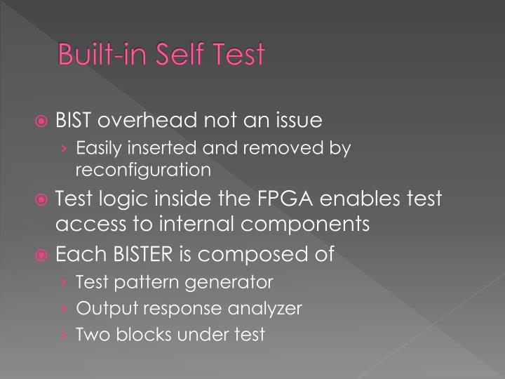 Built-in Self Test