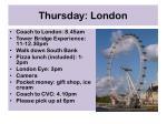thursday london