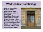 wednesday cambridge