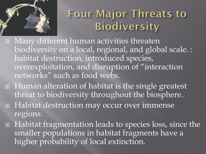 Four Major Threats to Biodiversity