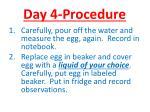 day 4 procedure