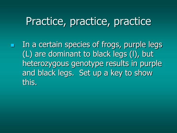 Practice, practice, practice