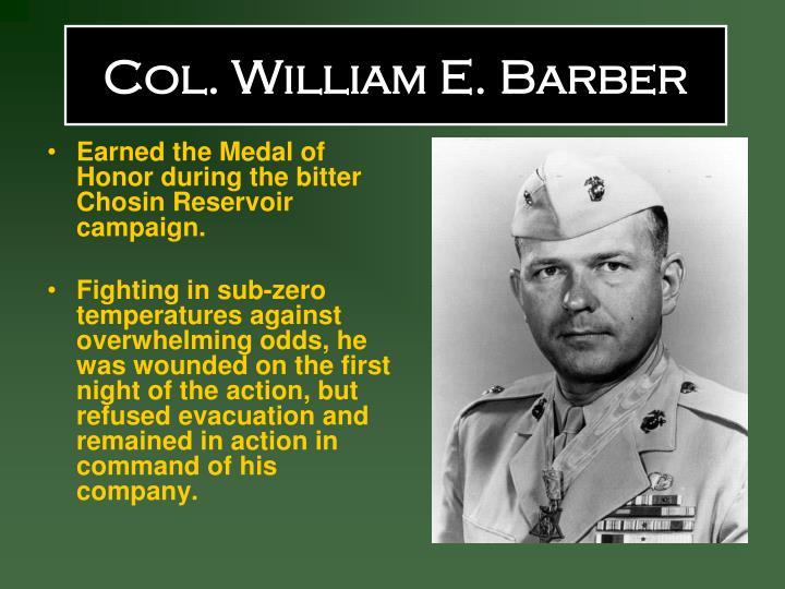 Col. William E. Barber