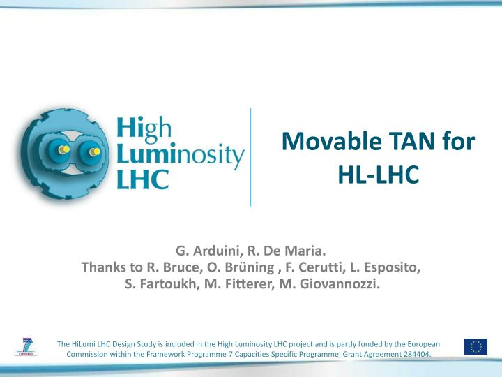 movable tan for hl lhc n.