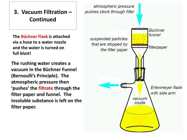 3.  Vacuum Filtration –