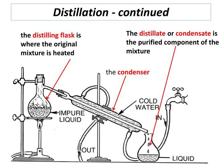 Distillation - continued