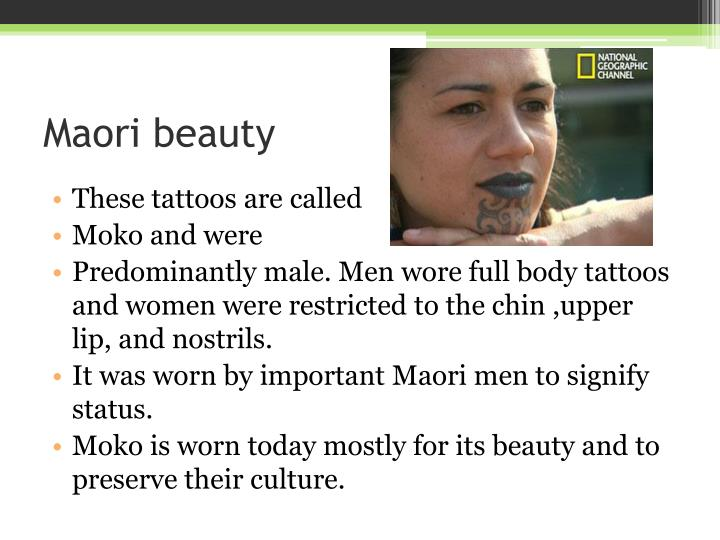 Maori beauty