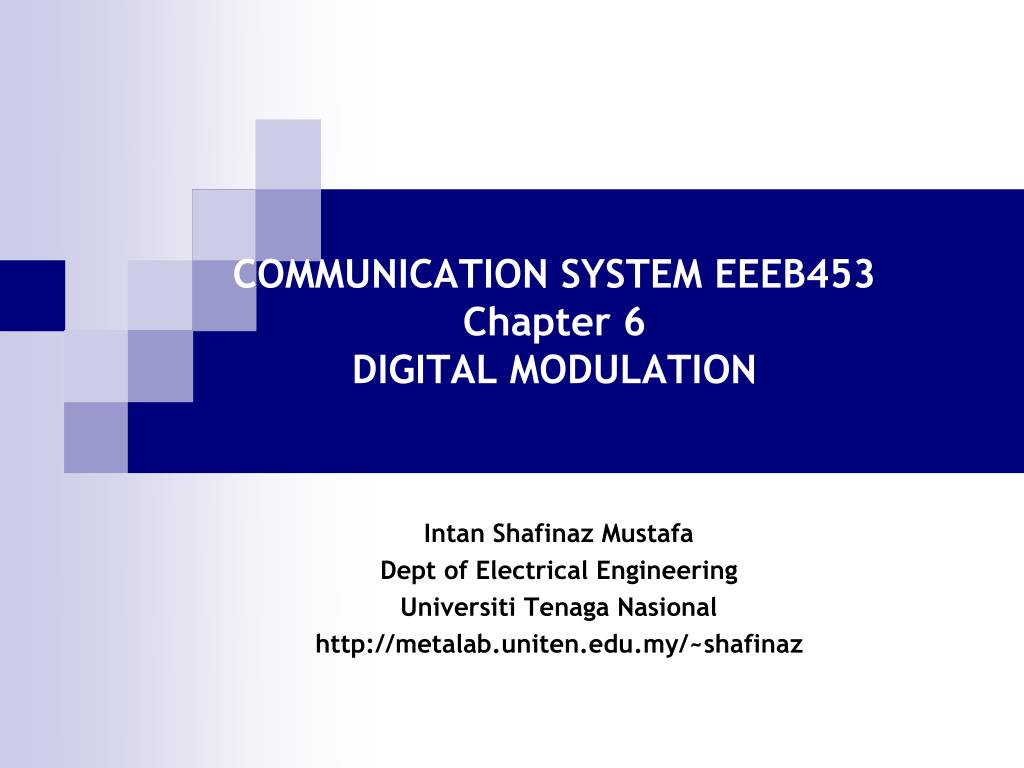 Ppt Communication System Eeeb453 Chapter 6 Digital Modulation Radio Control Link And Ask Amplitude Shift Keying N