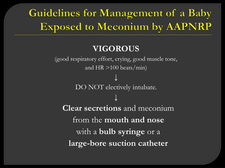 Guidelines for Management of a Baby Exposed to