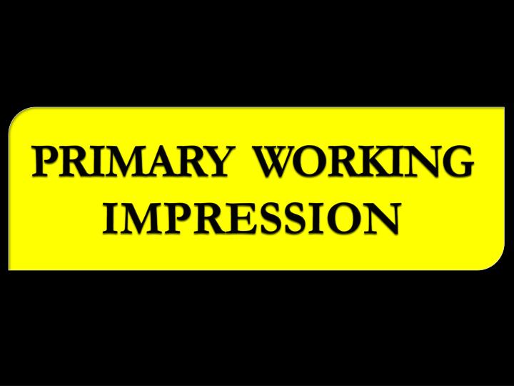 PRIMARY  WORKING