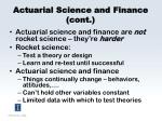 actuarial science and finance cont